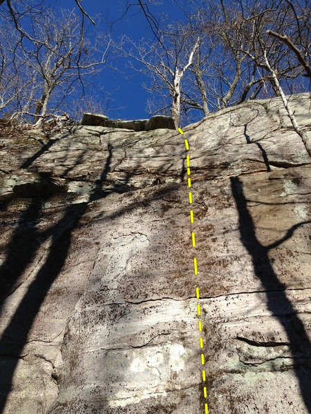 Rock Climbing Photo: Mt Yonah - Patriot Wall - Neglected (aka #6)