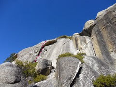 Rock Climbing Photo: Looking at the route from the trail