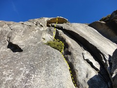Rock Climbing Photo: Climb as for The Saw but steer to the center of th...