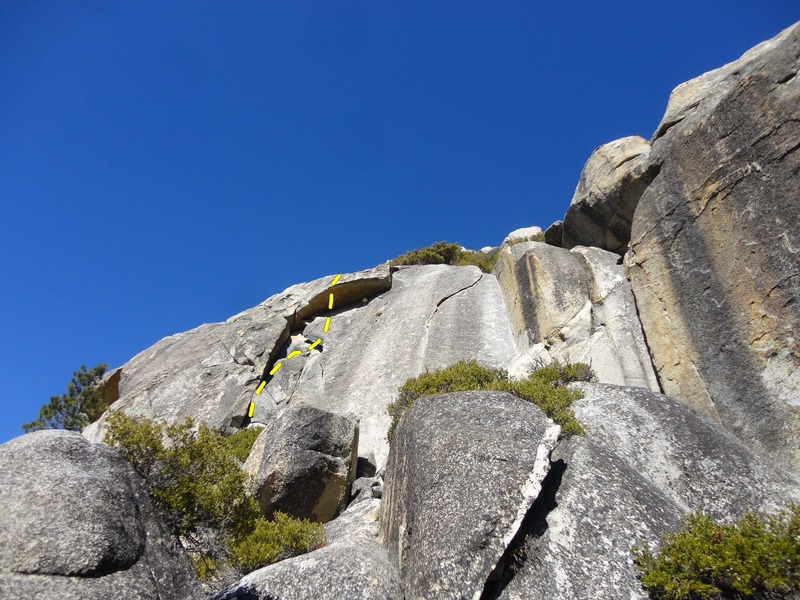 Rock Climbing Photo: Fear of Flying as seen from the trail