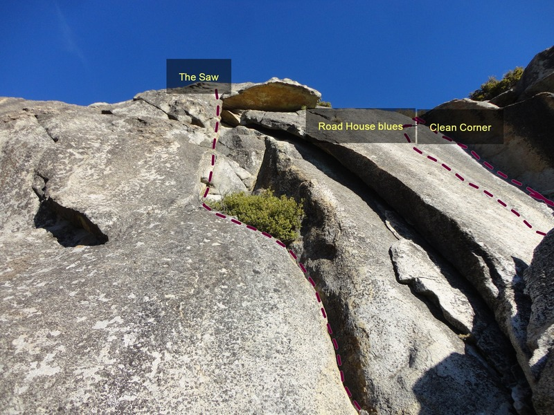 Rock Climbing Photo: Clean Corner in relation to other routes in the ar...