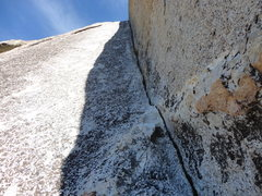Rock Climbing Photo: Looking up the crack of Clean Corner.
