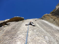 Rock Climbing Photo: Pat getting it done on Road House Blues