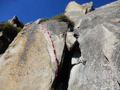 Rock Climbing Photo: The left trending crack