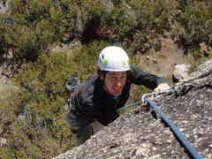 Rock Climbing Photo: Pat nearing the top of No Doubt Stout