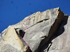 Rock Climbing Photo: I outlined the route I took which I think is harde...
