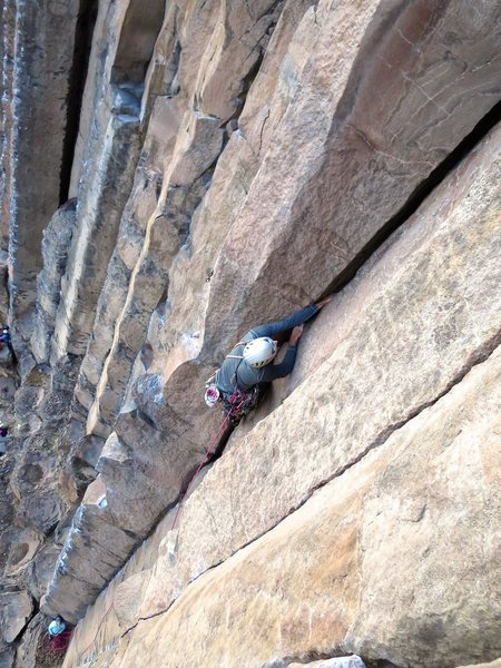 Rock Climbing Photo: geoff on upper Stems and Seeds. Photo by Emiko Hob...