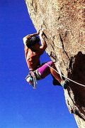 Rock Climbing Photo: Tony Yaniro on Warpath (5.12c), Joshua Tree NP  Ph...