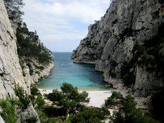 Rock Climbing Photo: En Vau from low on La Saphir