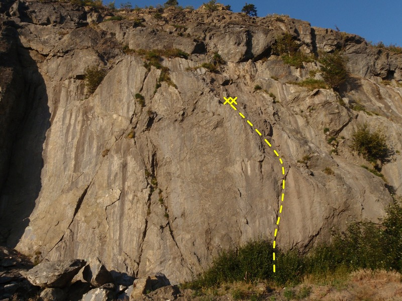 Rock Climbing Photo: Turecki/ Brooks is the left most route on the main...