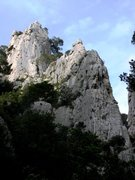 Rock Climbing Photo: La Saphir from approach trail near the sea