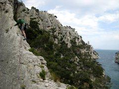 Rock Climbing Photo: Low on La Saphir