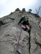 Rock Climbing Photo: Upper pitch of La Saphir