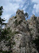 Rock Climbing Photo: La Petite Aiguille with La Saphir behind to the ri...