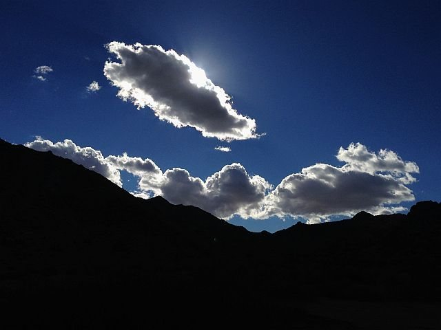 Afternoon clouds along the  Geology Tour Road, Joshua Tree NP