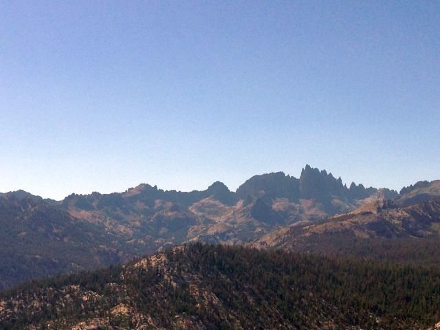 Rock Climbing Photo: The craggy Minarets from Minaret Vista near Mammot...