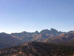 Rock Climbing Photo: The craggy Minarets from Minaret Vista near Mammot...