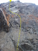 Rock Climbing Photo: This is the right most of two routes located above...