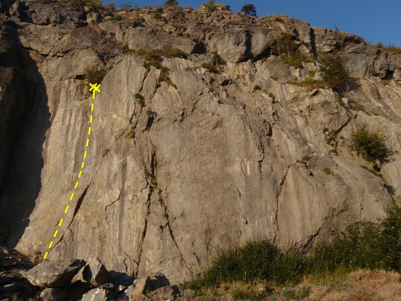 Rock Climbing Photo: Supper Fly is one of two routes here that may be w...