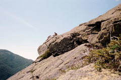 Rock Climbing Photo: Andrew lending his brother Randy a hand up the bac...
