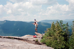 Rock Climbing Photo: Randy and Adam goofing off on Noonmark Mnt. ADK Ci...