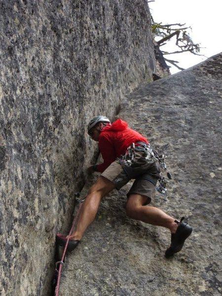Rock Climbing Photo: climbing in the rain