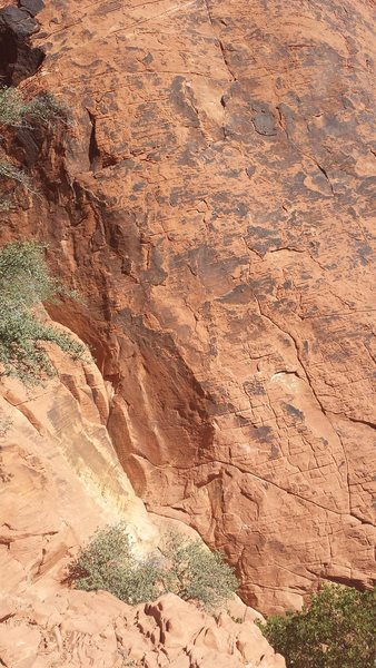 Rock Climbing Photo: You have to walk down a short bit to correctly bel...