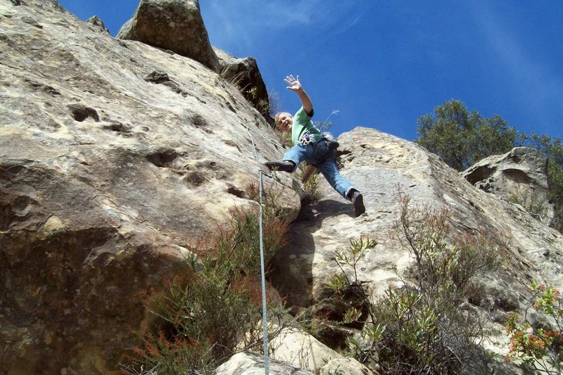 MIke Arechiga on, White Devil/Go I Know Not Wither, 5.10b.