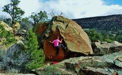 Rock Climbing Photo: Start beta of Blue Floyd.