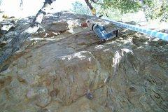 Rock Climbing Photo: Mike Arechiga on, Permanent Erection, 5.11a.