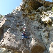 Rock Climbing Photo: Mike Arechiga on, Triple Overhang 5.10.