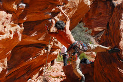 Rock Climbing Photo: Having fun at the Sunny and Steep Wall in Red Rock...