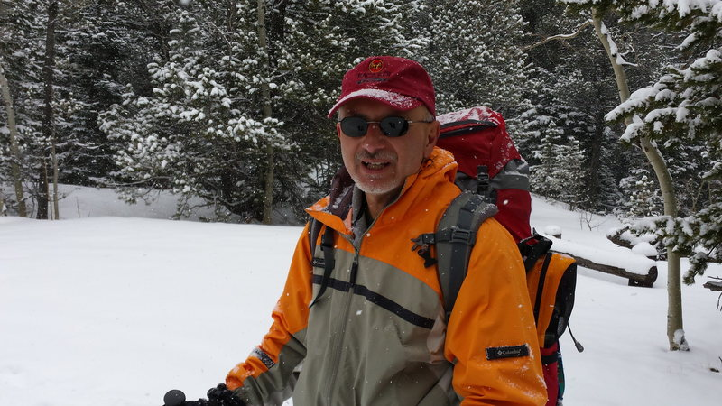 Mike C on ski in- Hidden Falls - Wild Basin. Feb 2015
