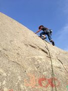 Rock Climbing Photo: A mild winter's day on Fear the Smear (5.8), River...