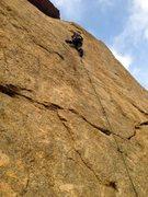 Rock Climbing Photo: Mass Production (5.9), Riverside Quarry