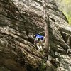 Climbing at Farley in western MA