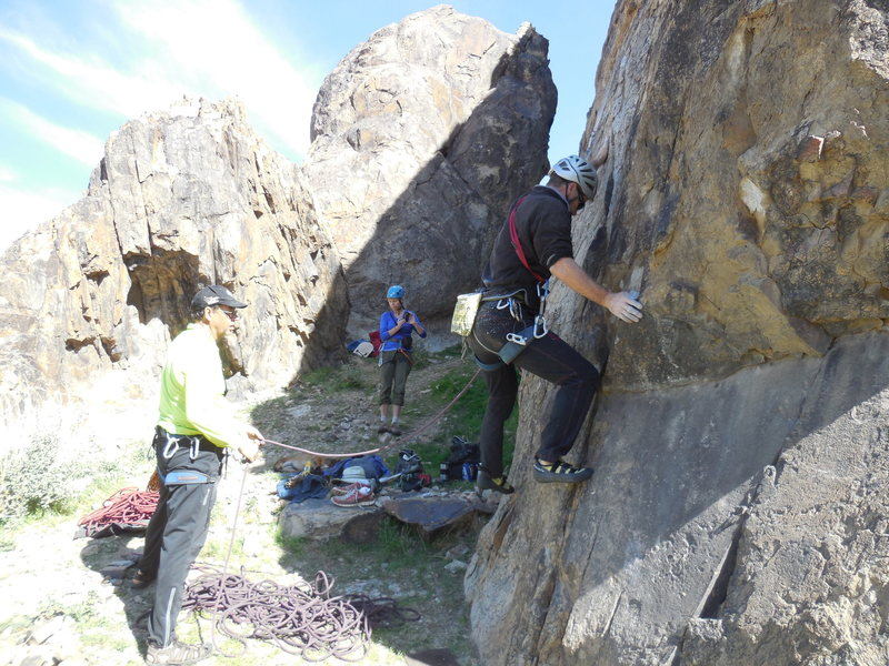 "Rock Climbing Photo: The bouldery opening moves of ""Cupid's Fever...."