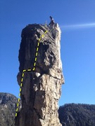 Rock Climbing Photo: Bradley at the summit.