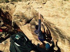 Rock Climbing Photo: Jonathan nearing the top.