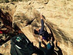 Rock Climbing Photo: Jonathan at the topout.