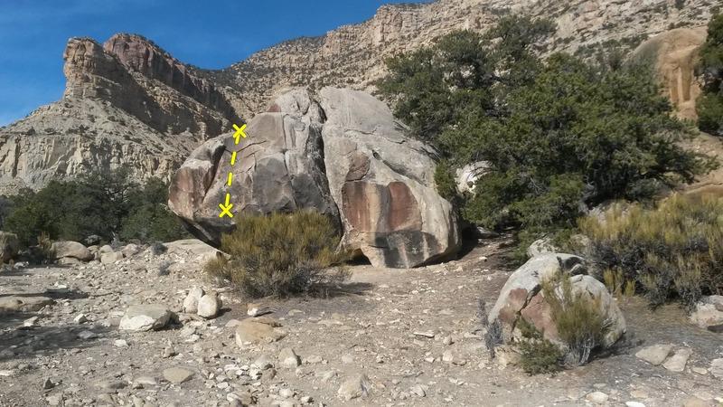 Rock Climbing Photo: Road Boulder topo