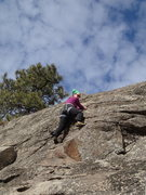 """Rock Climbing Photo: Climber on """"Rock it in the Pocket"""" - win..."""