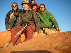 Rock Climbing Photo: Party on the South Sixshooter Summit after a full ...