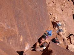 Rock Climbing Photo: Enjoying a little rest before another desert crux.