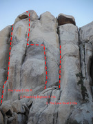 Rock Climbing Photo: Bighorn Dome - North Face 1. The Tube 5.10b R 2. P...