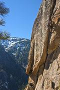 Rock Climbing Photo: Laine finishing up the crux