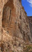 Rock Climbing Photo: Jeffrey climbing on the Trojan Wall