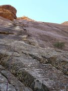 Rock Climbing Photo: from the ground it is 180' to the top of the 1st p...