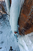 Rock Climbing Photo: Climbing the steep hanging pillar (middle pillar o...
