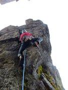 Rock Climbing Photo: the crux start.